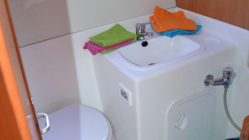 Boating Holidays with the Tarpon 42 A - Bathroom with Electric Toilet