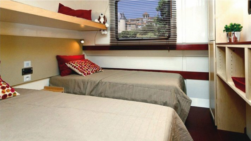 Vision 3  - Cabin choice of 1 Double Bed or 2 Single Beds