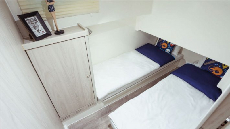 Horizon - Central Cabin with choice of 1 Double Bed or 2 Single Beds