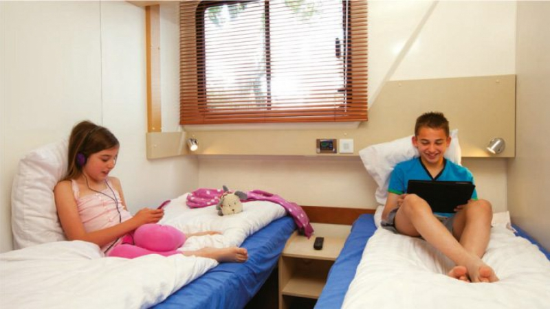 Vision 4  - Cabin choice of 1 Double Bed or 2 Single Beds