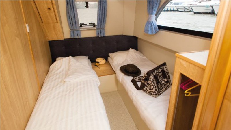 Tango - Portside Rear Cabin choice of 1 Double Bed or 2 Single Beds
