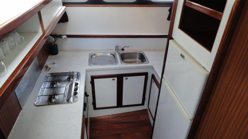 Boating Holidays with the Tarpon 42 A - Kitchen with Large Fridge