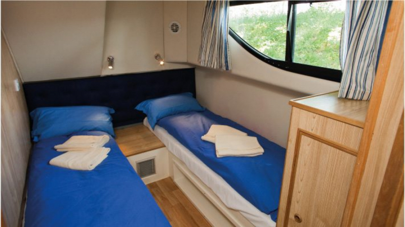 Mystique - Portside Rear Cabin choice of 1 Double Bed or 2 Single Beds
