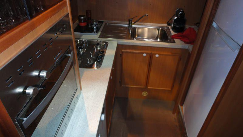 Boating Holidays with the Tarpon 49 Quattro Prestige - Kitchen with Dish Washer and Coffee Machine