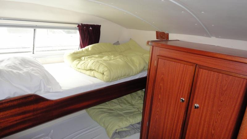 Boating Holidays with the Tarpon 37 N - Starboard Rear Cabin with 2 Bunk Beds