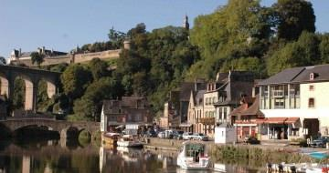 The Port of the walled city of Dinan
