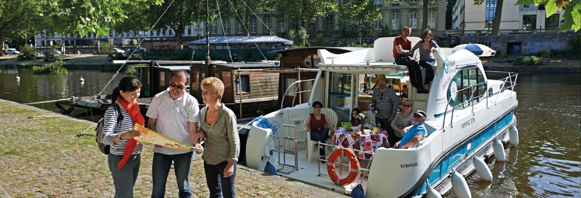 The Nantes- Brest canal barge in without permits on canal boating holidays